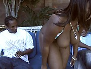 Bbw Black Slut Gets Fucked Hard By Two Big Dick Outdoors And Mak