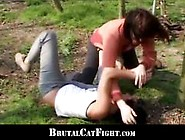 Two Girls Made To Catfight By Kinky Male