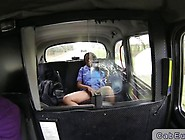 Ebony Nurse Interracial Sex In Fake Taxi