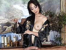 Asian Acupuncture Masseuse Gives Her Client A Happy Ending