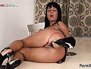 Masturbating Slut Enjoys Her Huge Black Dildo