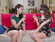 Alina Lopez Seduces Lesbian Vera King Into Pussy Licking After A