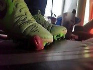 Stomp My Cock With Matschworn Soccer Shoes Right View