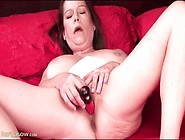 Toy Slowly Fills Her Pretty Milf Pussy