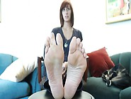 Long Slim Feet And Long Toes Wiggling