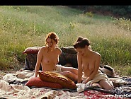 Christa Theret Full Frontal And Solene Rigot Topless - Renoir (2