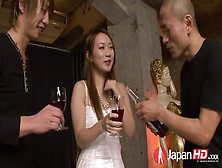 Hairy Twat Of Kazumi Nanase Is Fucked By Two Hot Tempered Dudes