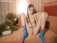 Milena D Sunna Poses Naked Beside Her Favorite Teddy Bear