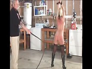 Blonde Milf Whipped In Garage
