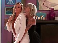 Blazing Lesbians Samantha Saint And Kleio Valentien