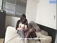 Hot Japanese Secretary In Short Skirt And Pantyhose Touched And