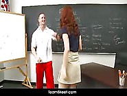 Tight Redhead Teen Gets A Hot Fuck In The Classroom