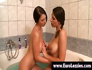Brunette Euro Lezzies Get Hot