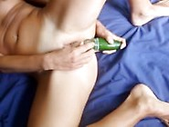 Bebe From 1Fuckdate. Com - Me Playing With Two Big Cucumbers