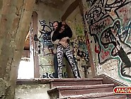 German Woman Is Having Sex In An Abandoned House,  With A Guy Who