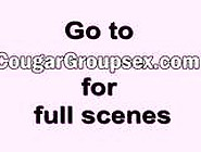 Three Cougars With Dripping Wet Cunts Take Turns On Guy's Boner