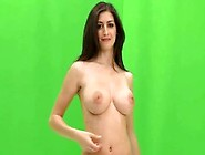 [Full]Katie-Marie A Very Sexy Brunette Takes Her Bra Off!!