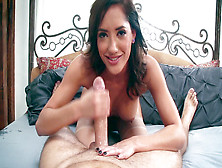 Chloe Amour Does A Wet Blowjob And Slurps On His Ball Sack