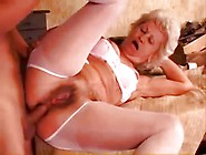 Lingerie-Clad German Granny Getting Ass Fucked By A Teen