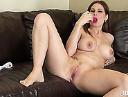 Well-Endowed Females Allison Moore Sucks Blue Dildo And Presses