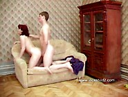 Beauty Russian Mother Fucking With Son On Sofa