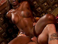 Black Hottie Finally Has A Chance To Climb Up On The White Schlo