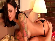 Busty Tattooed Whore On High Knee Red Boots Angelina Valentine G