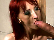 Worn Out Red-Haired Slut Gets Her Nipples Squeezed With Metal Pe