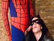 Catwoman Blows Spiderman And Rides His Dick