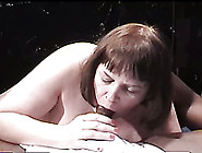 Mature And Busty Redhead Bbw Lady Gives Head To A Black Boy
