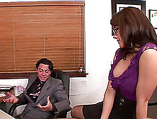 Chanel Preston Throating And Pussying Her Guy's Dick In An Offic