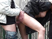 Risky Public Sex Threesome On Bridge A Part 2