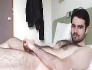 Straight Hairy Young French Stud Jerks Off - Webcam