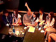 Japanese Party Girls At A Night Club Entertain The Guys With Blo