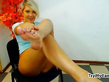 Chubby Shows Feet At Trymycam. Com