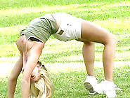 Alison Angel Demonstrates Her Pussy And Ass In The Park