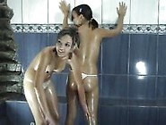 Lili And Cary Oiled And Playing