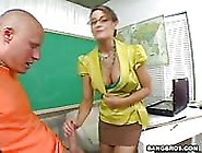 Hot Teacher With Big Tits Nailed Good Doggy Style