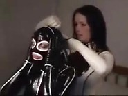 Lesbian Couple Enjoy In Rubber Catsuit