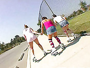 Three Sporty Teens Skate Then Strip And Eat Some Pussy