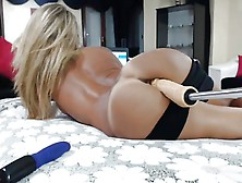 Blonde Ass Getting Dildoed