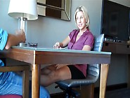 Blonde Milf Gives A Guy A Perfect Footjob With Her Mature Feet A