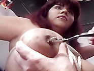 Large Tits Get Tied Up And Clamped