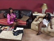 Ebony Lesbian With Massive Nipples Toying With Her Black Lover