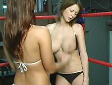 Pretty Models Catfighting In The Ring