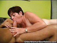 Older Woman Sucks On Younger Studs Cock