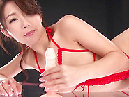 Ayumi Shinoda Sits On Her Suction Cup Dildo And Rides