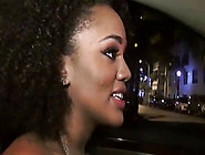 Bigtitted Ebony Doggystyled During Hitchhiking