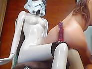 Freak Girl Masturbating With Dildo Webcam