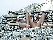 Shameless Hot Brunette Lady On The Beach Is Having Sex